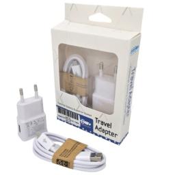 CARGADOR USB 220V 2A + CABLE MICRO USB