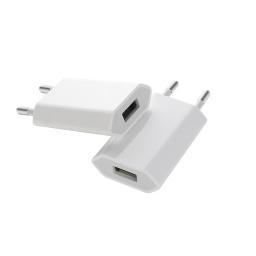 CARGADOR USB 220V 1A (TIPO IPHONE)